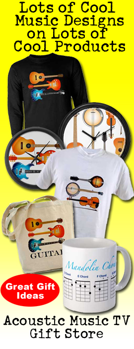 music gift products, tshirts, mugs, clocks, guitar, mandolin, ukulele