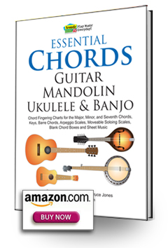 Essential Chords, banjo D tuning, major, minor and sevenths