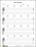 Banjo Blank sheet music