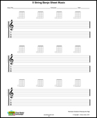Banjo 5 string blank sheet music