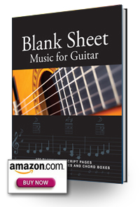 Blank Sheet Music for Guitar book cover