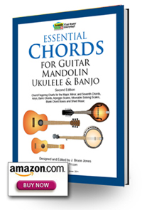 Essential Chords Book 2nd edition, guitar, mandolin, ukulele, banjo