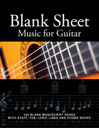 Guitar Sheet Music Book, Staff and Tab lines