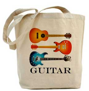 3 Guitar Tote Bag, Acoustic, Electric, Bass