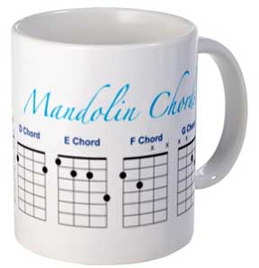 Mandolin mug with essential major chords