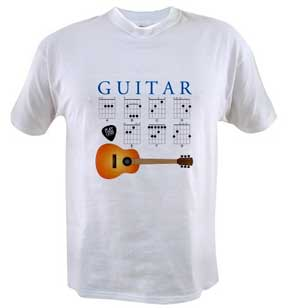 Guitar Major Chords on TShirts