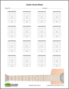 guitar blank chord sheet, vertical