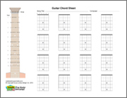 Guitar blank chord sheet, horizontal