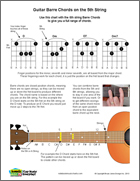 Guitr Barre Chords on 5th String