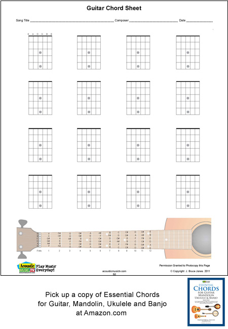 Guitar blank chord boxes