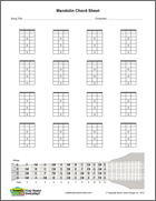 mandolin chord sheet, blank printable vertical