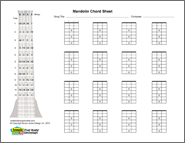 Mandolin Bland printable chord box sheet, horiz
