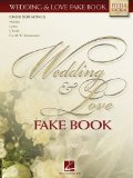 wedding and love fake book, song, singing, songbook